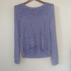 H&M violet blue sweater with a back zipper